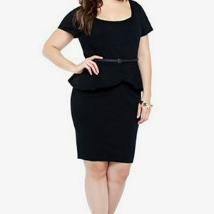 Torrid Black Peplum Dress